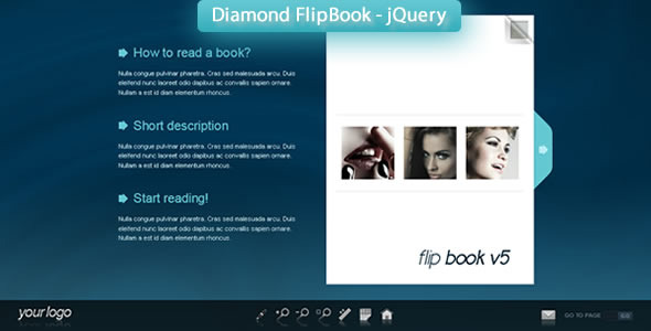 Diamond FlipBook - jQuery - Screenshot 1