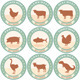 Meat Labels with Farm Animal Icons - GraphicRiver Item for Sale