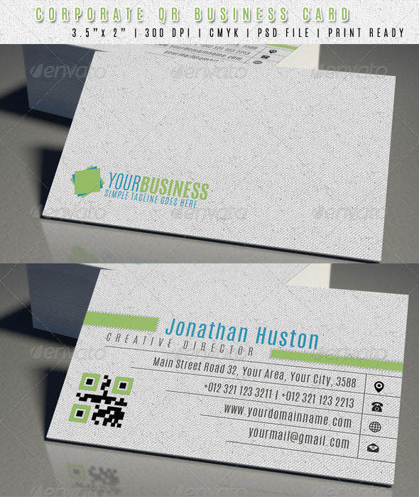 GraphicRiver Creative QR Code Business Card 6818504