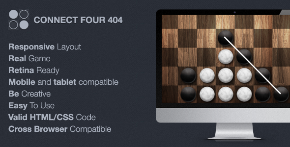 ThemeForest Connect Four 404 Maintenance 6818584