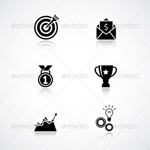 GraphicRiver Goal Achievement Icons Set 6818637
