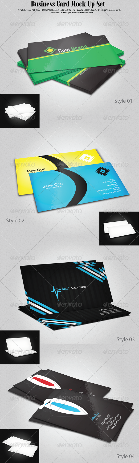 GraphicRiver Business Card Mock Up Set 6812401