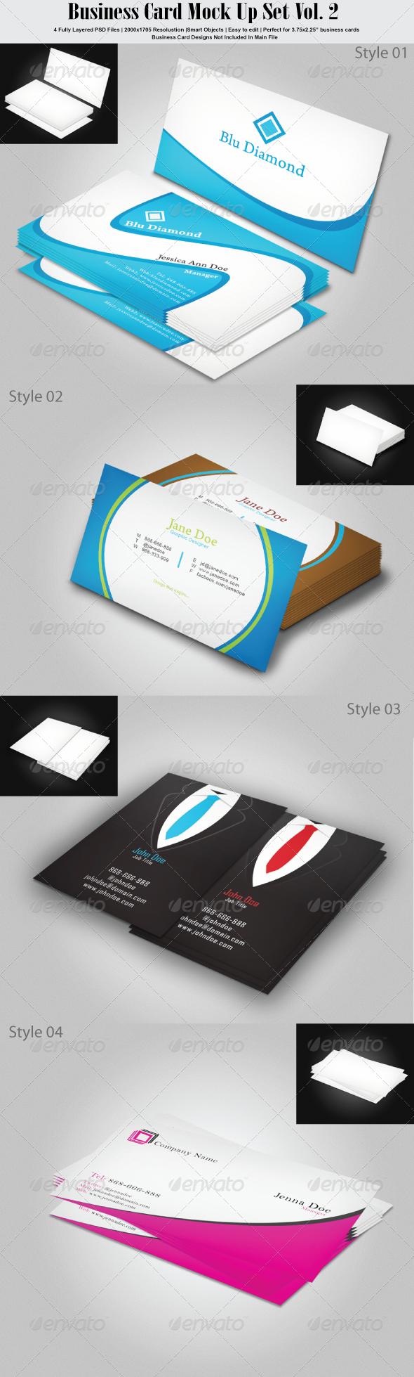 GraphicRiver Business Card Mock Up Set Vol 2 6812436