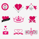 Hipster Valentine Badges and Icons (Updated) - GraphicRiver Item for Sale