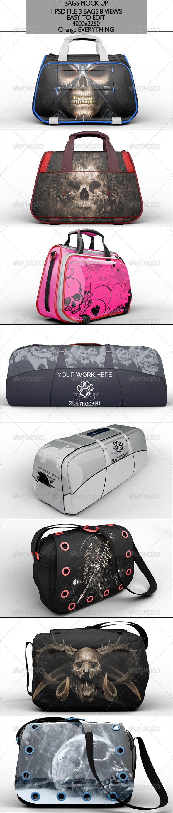 GraphicRiver Bag Pack Mock Up 6819683