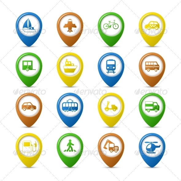 GraphicRiver Navigation Pins Set 6820015