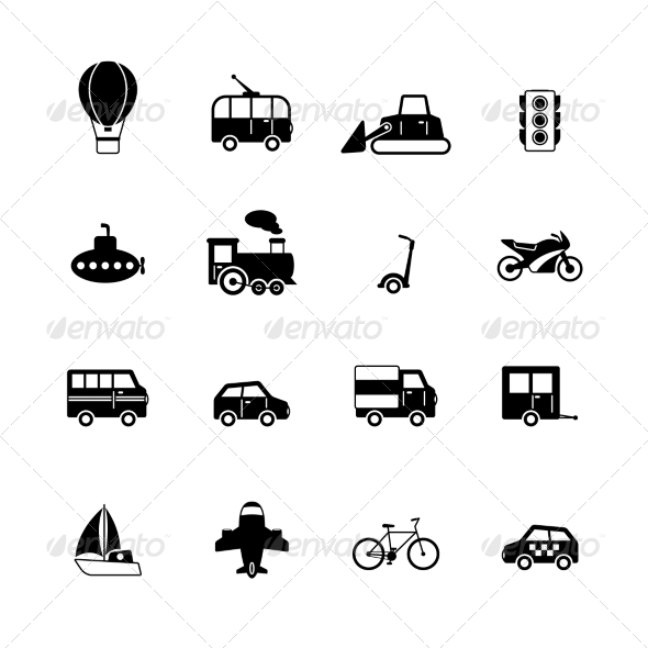 GraphicRiver Transportation Pictograms Collection 6820016