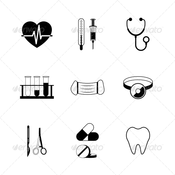 GraphicRiver Medical Pictogram Collection 6820027