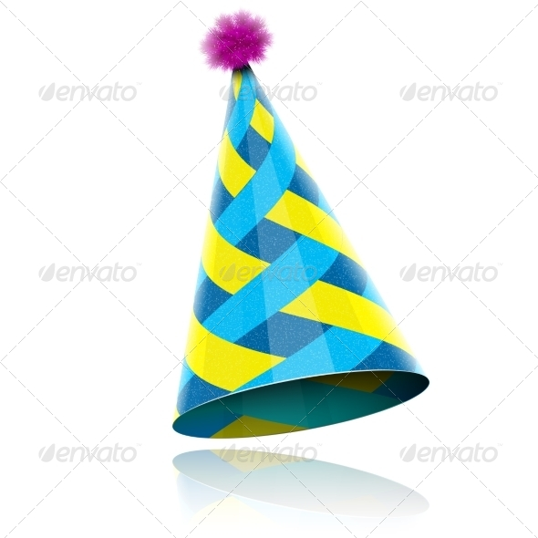 GraphicRiver Glossy Cone-like Hat For Event Celebration 6820081