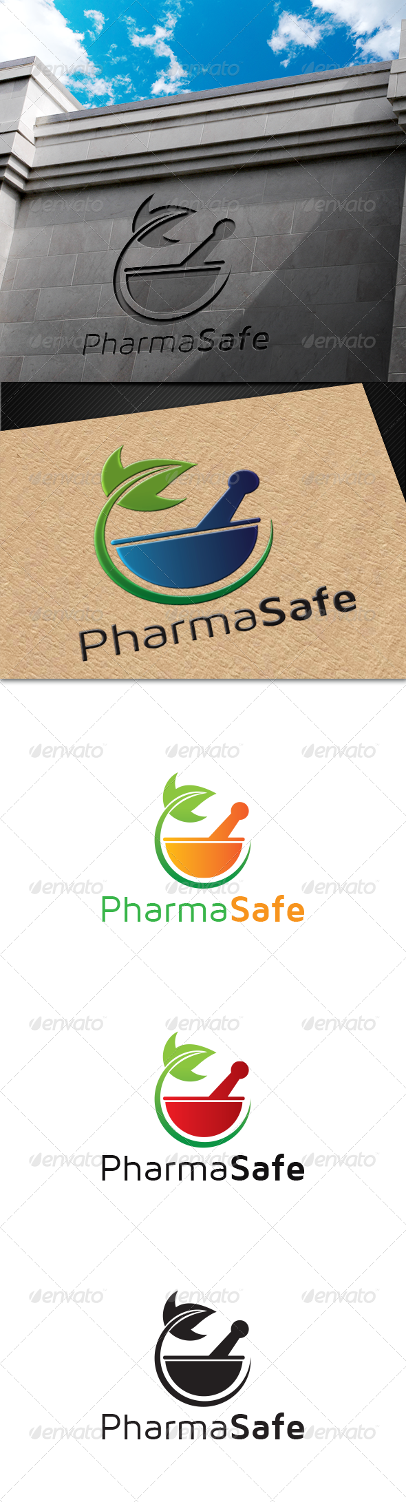 GraphicRiver PharmaSafe Logo 6820323