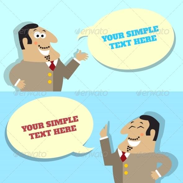 GraphicRiver Businessman Speech Bubble 6820412