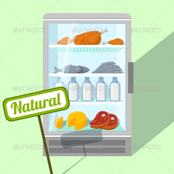 GraphicRiver Natural Foods in Refrigerator 6820427