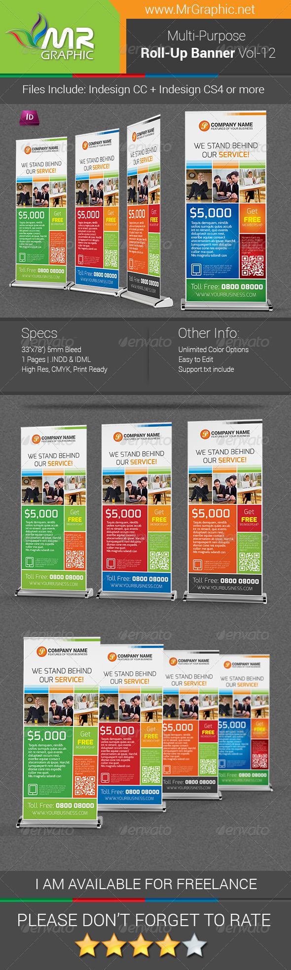 GraphicRiver Multipurpose Business Roll-Up Banner Vol-12 6822721