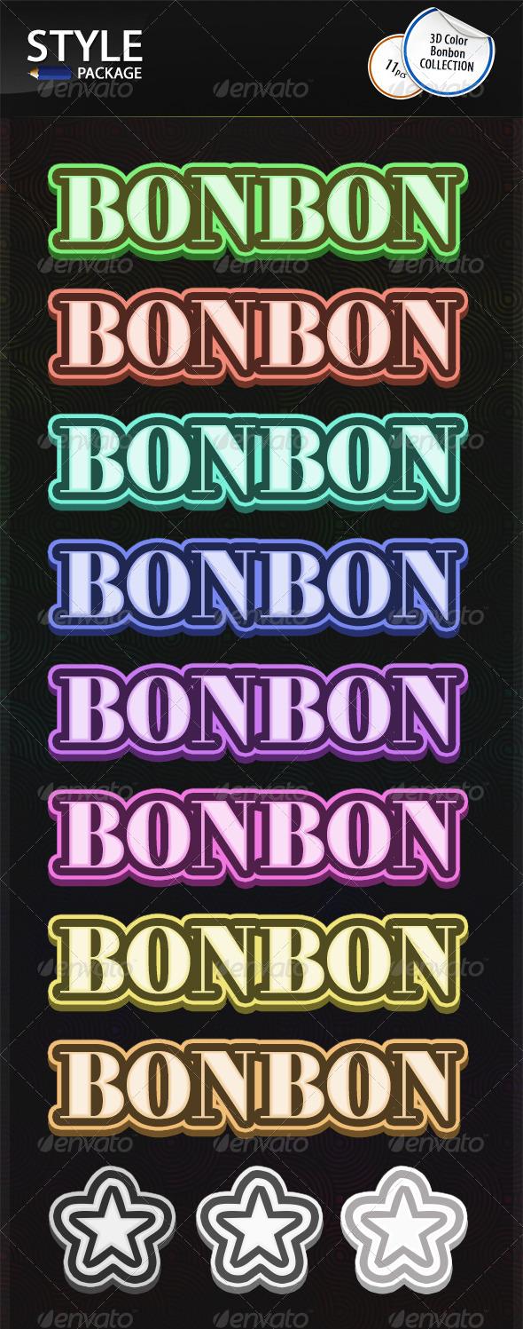 GraphicRiver 3D Color Bonbon Styles 6823295