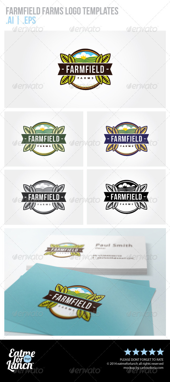 GraphicRiver Farms Logo Template 6824344