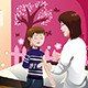 Kid Getting a Flu Shot by a Doctor in the Arm - GraphicRiver Item for Sale