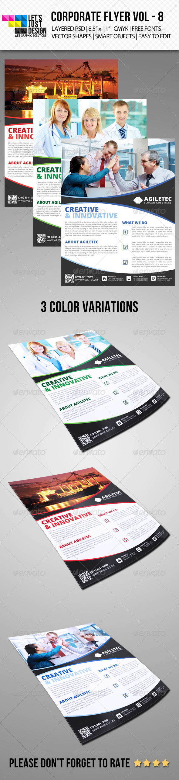 GraphicRiver Corporate Flyer Template Vol 8 6824967