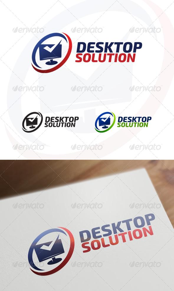 GraphicRiver Desktop Solution Computer & Internet Logo 6825122