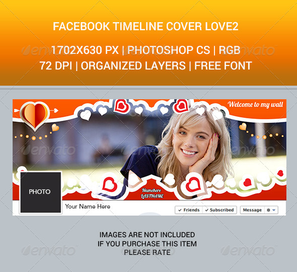 GraphicRiver Facebook Timeline Cover Love2 6825696