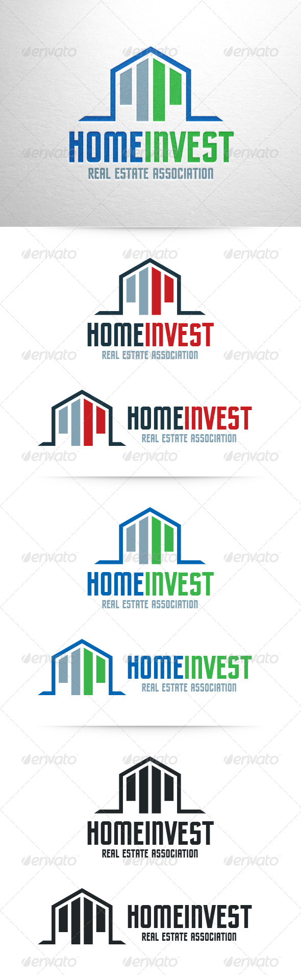 GraphicRiver Home Invest Logo Template 6825730