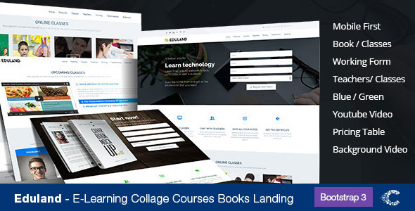 Eduland - Collage Career HTML Landing Page - Marketing Corporate
