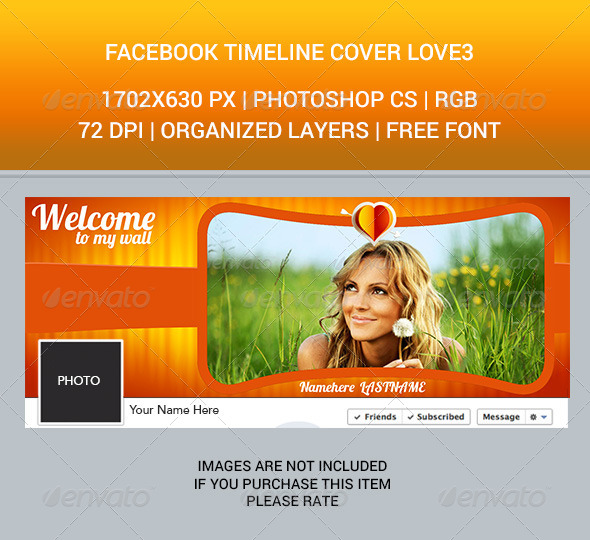 GraphicRiver Facebook Timeline Cover Love3 6826199