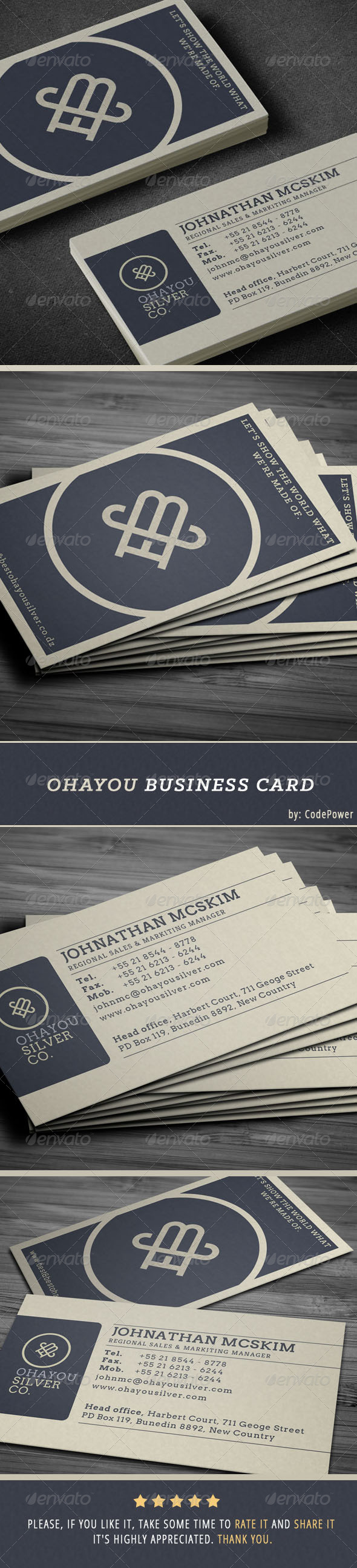 GraphicRiver Ohayou Business Card 6826342