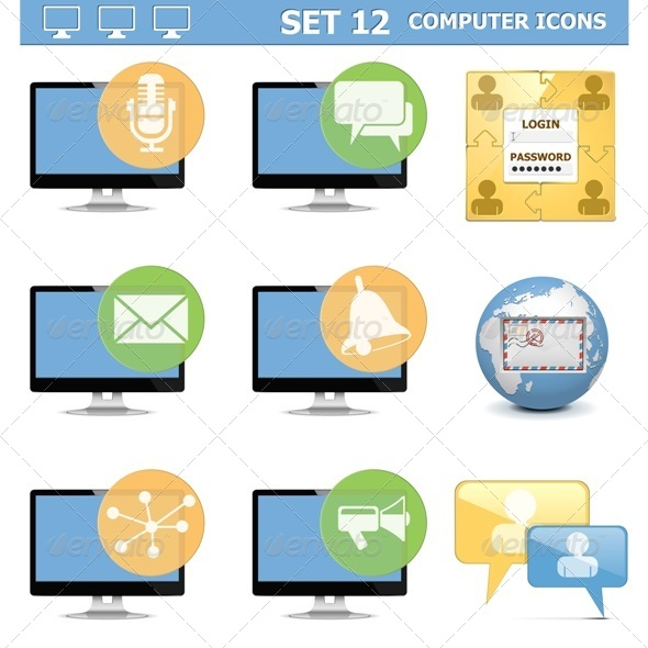 GraphicRiver Computer Icons Set 12 6826526