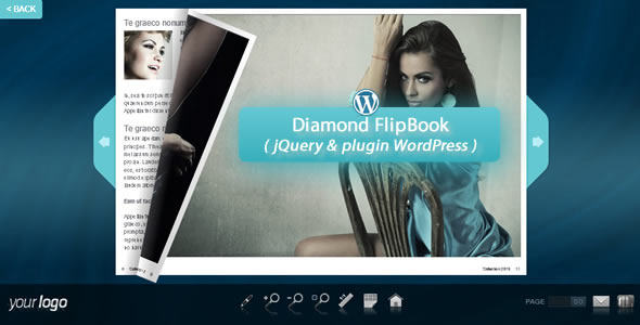 Diamond FlipBook jQuery&pluginWordPress - CodeCanyon Item for Sale
