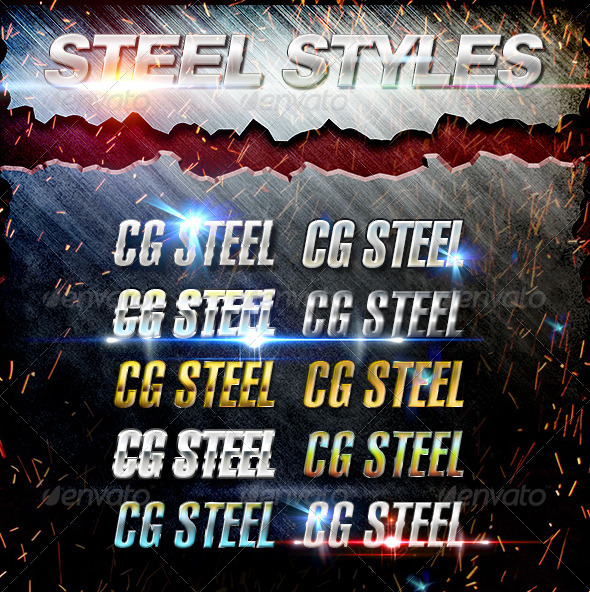 GraphicRiver Real Steel Styles 6826846