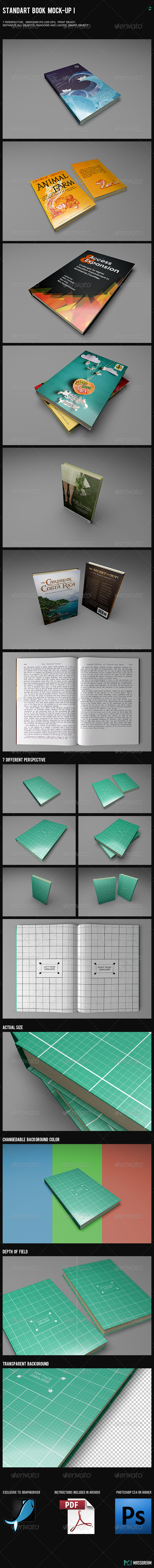 Standart Book Mock-Up I - Books Print