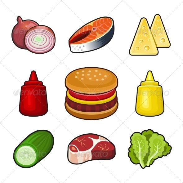 GraphicRiver Burger Icons Set 6826902
