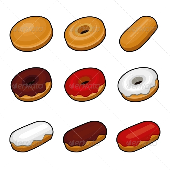 GraphicRiver Colorful Donuts 6826919