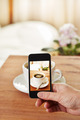 Smartphone taking picture of coffee - PhotoDune Item for Sale