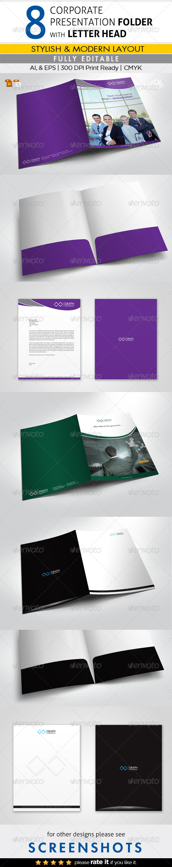GraphicRiver 8 Corporate Presentation Folder with Letterhead 6827653