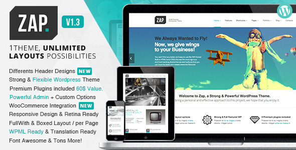 ZAP - Responsive Multi-Purpose WordPress Theme - Corporate WordPress