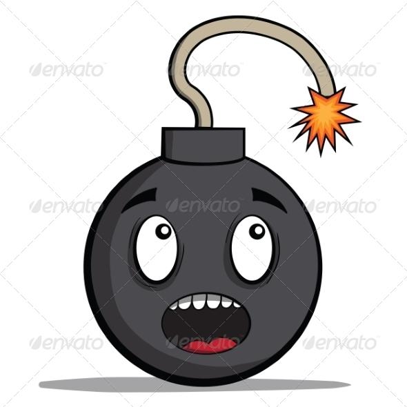 GraphicRiver Cartoon Bomb Ready to Explode 6827941