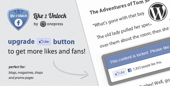Like 2 Unlock for Wordpress - CodeCanyon Item for Sale