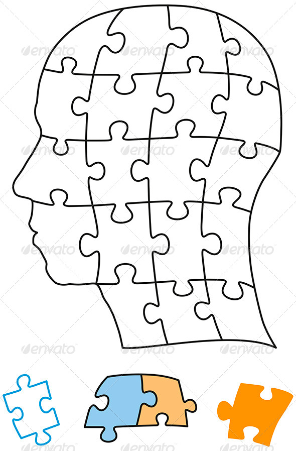 GraphicRiver Head Puzzle Single Parts 6815076
