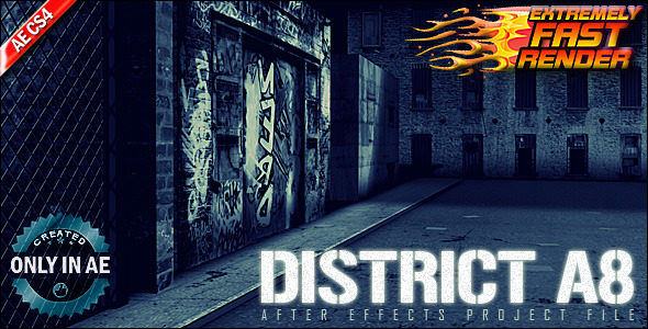 After Effects Project - VideoHive District A8 711303