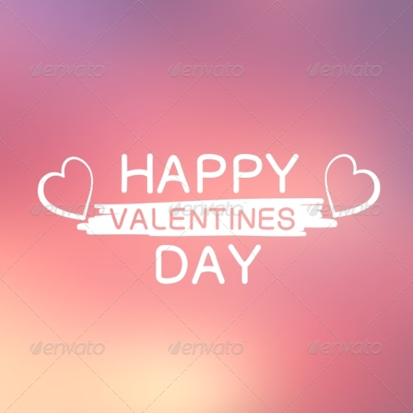 GraphicRiver Abstract Background with Text for St Valentine s 6828348