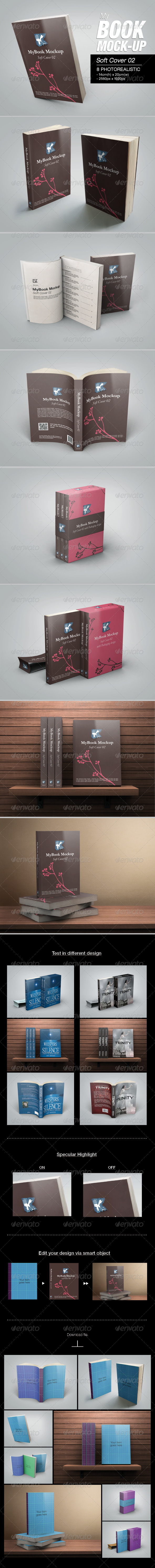 GraphicRiver MyBook Mock-up Soft Cover 02 6828697