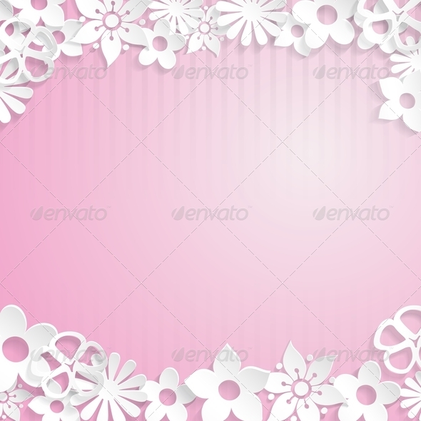 GraphicRiver Background with Paper Flowers 6828705