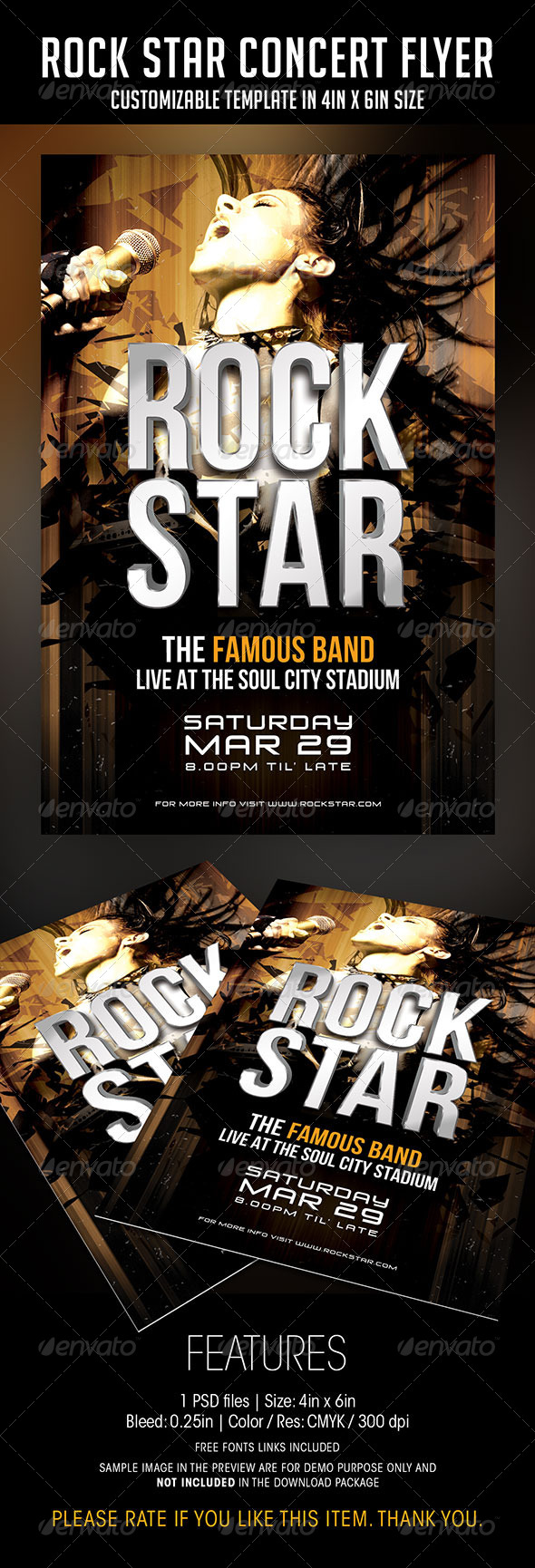GraphicRiver Rock Star Concert Flyer 6828842