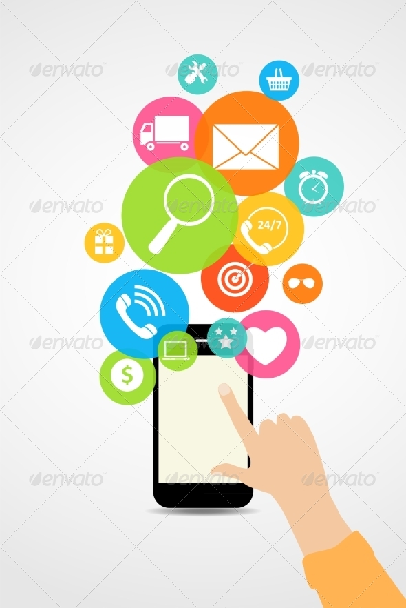 GraphicRiver Business Internet on Different Electronic Devices 6828854