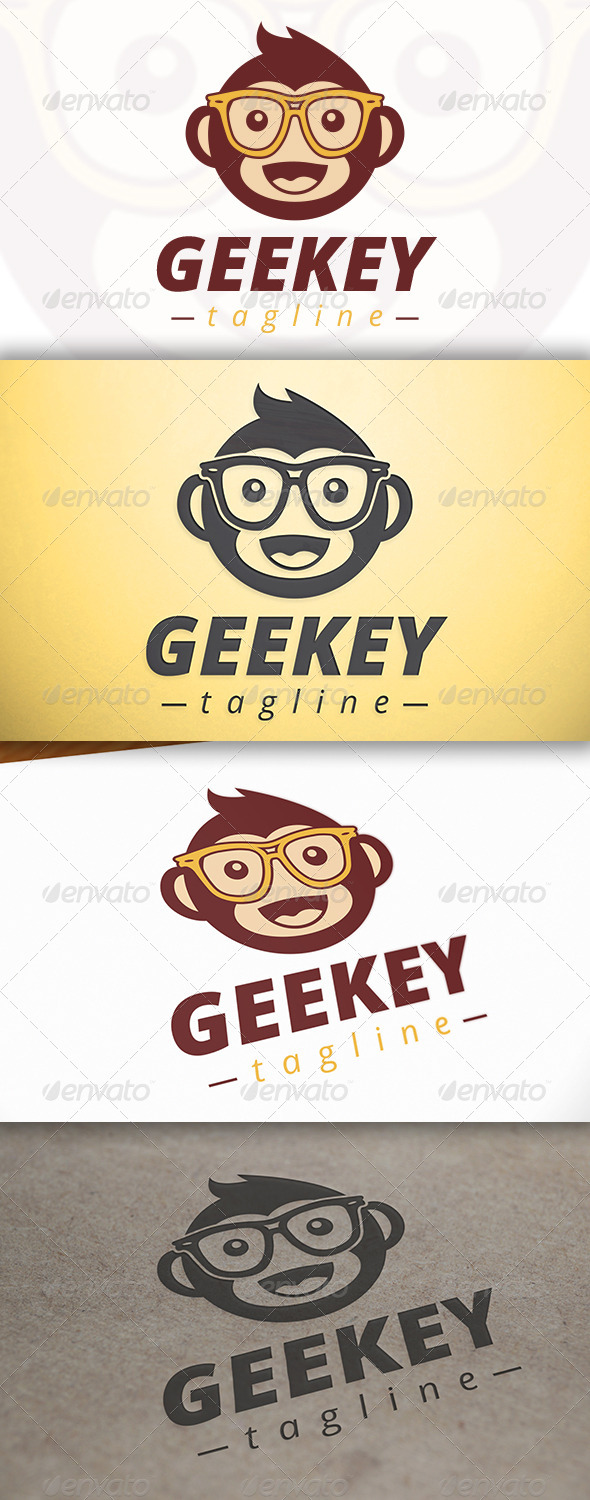 GraphicRiver Geek Monkey Logo 6828862