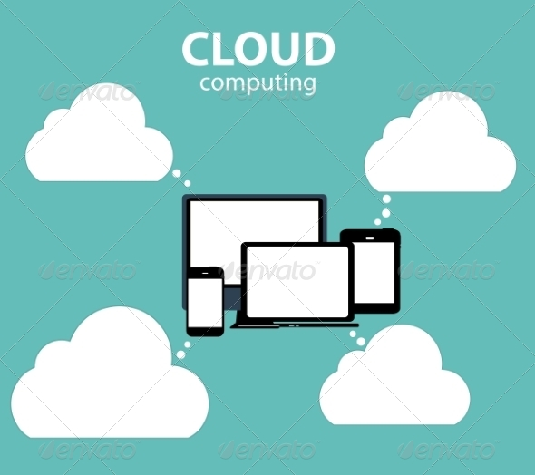 GraphicRiver Cloud Computing Concept on Different Electronic De 6828875