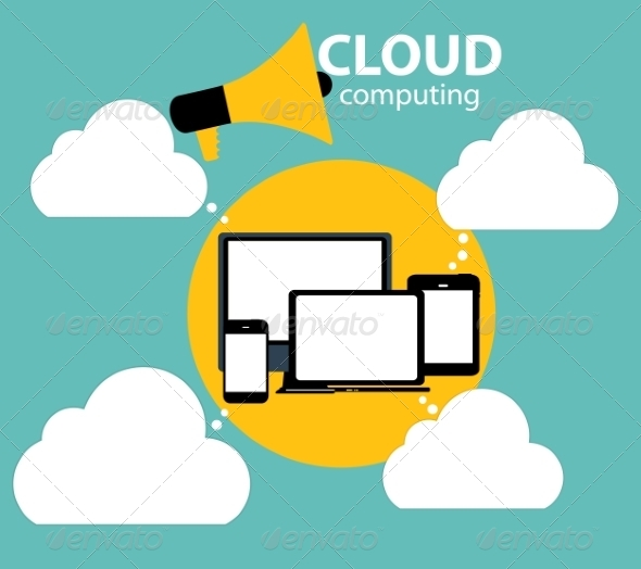 GraphicRiver Cloud Computing Concept on Different Electronic 6828877