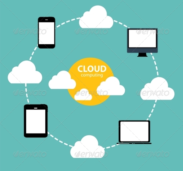 GraphicRiver Cloud Computing Concept on Different Electronic 6828899