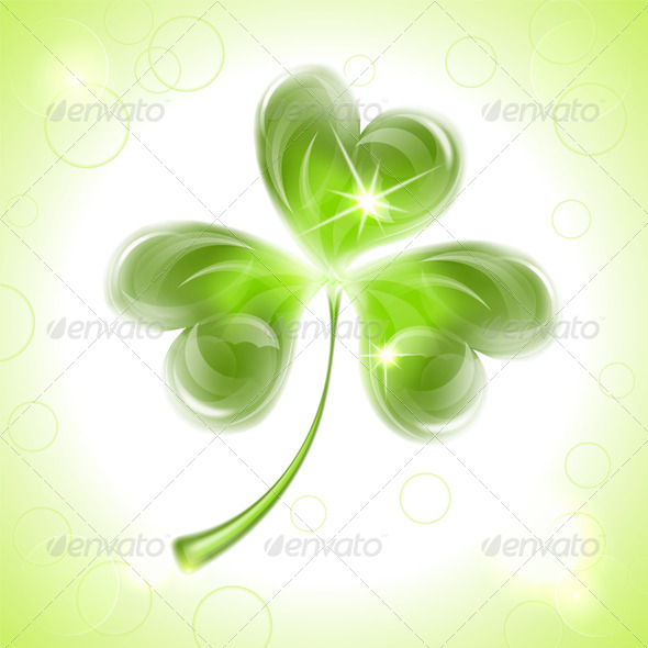 GraphicRiver Leaf Clover on St Patrick s Day 6829354